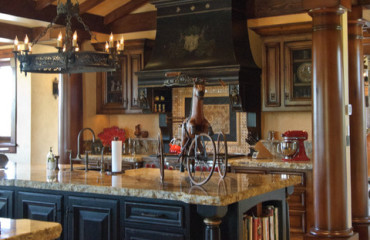 Black Kitchen Cabinets in Tuscan Design