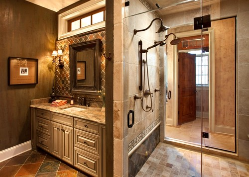 Exceptional Img. Home / Home Decorating Ideas / Tuscan Bathroom Design Gallery