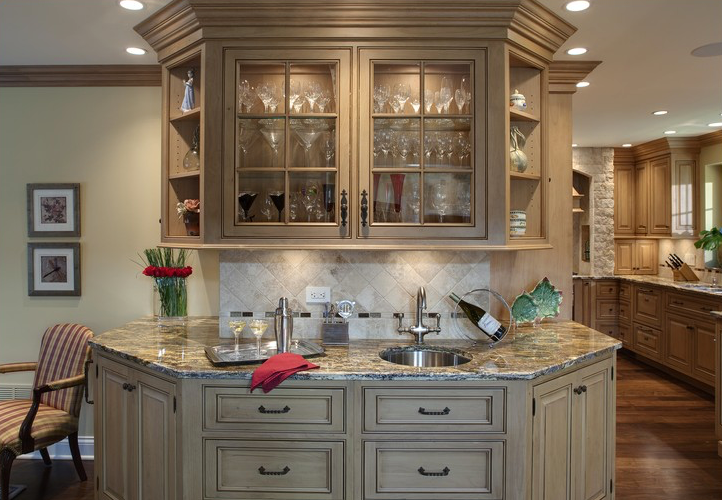 Kitchen cabinets tuscan home 101 for Kitchen cabinets 101